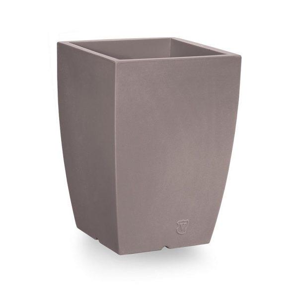 Bloempot Genesis, vierkant, H60 cm, taupe - VECA