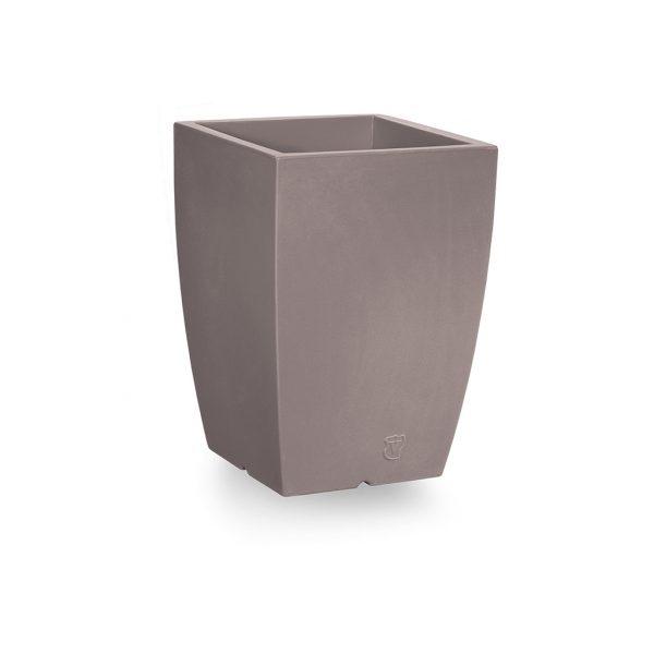 Bloempot Genesis, vierkant, H50 cm, taupe - VECA
