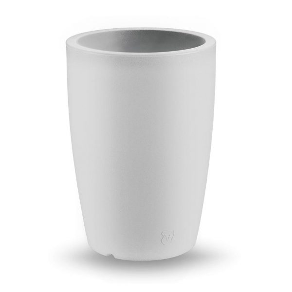 Bloempot Genesis, rond, H60 cm, wit - VECA