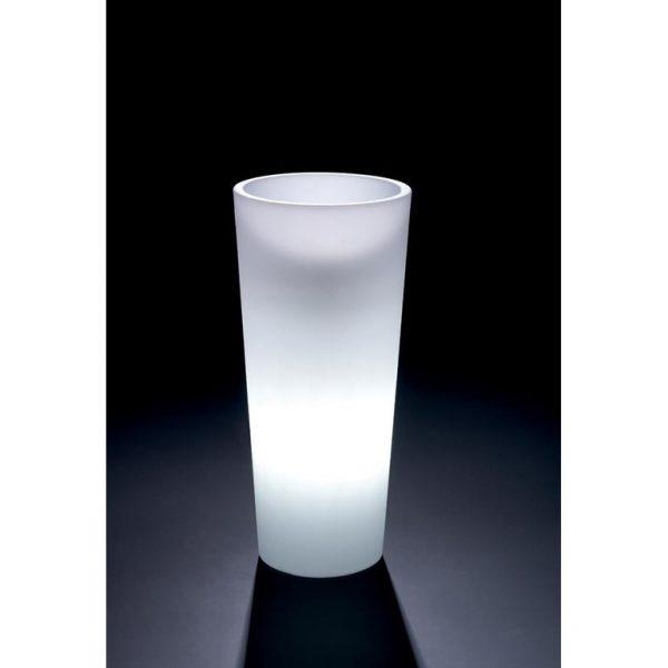 VECA - verlichte bloempot Genesis, rond, H85 cm - kunststofbloempot.nl