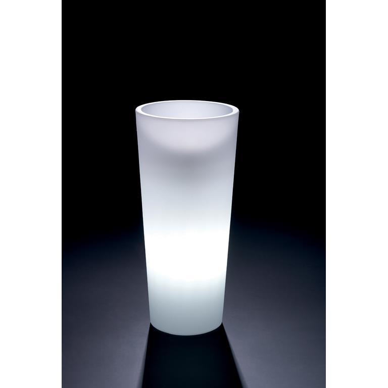 VECA - verlichte bloempot Genesis, rond, H100 cm - kunststofbloempot.nl