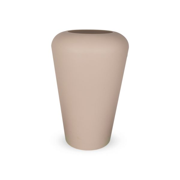 PLASTECNIC - Bloempot Vaso Mymou Alto, H80 cm, taupe - kunststofbloempot.nl