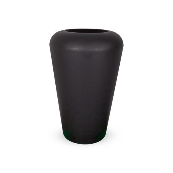 PLASTECNIC - Bloempot Vaso Mymou Alto, H80 cm, zwart - kunststofbloempot.nl