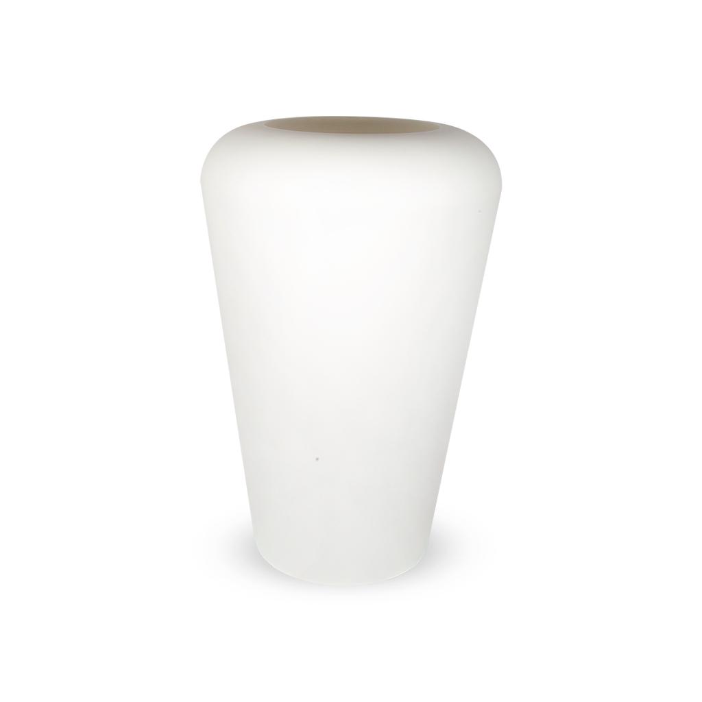PLASTECNIC - Bloempot Vaso Mymou Alto, H80 cm, wit - kunststofbloempot.nl
