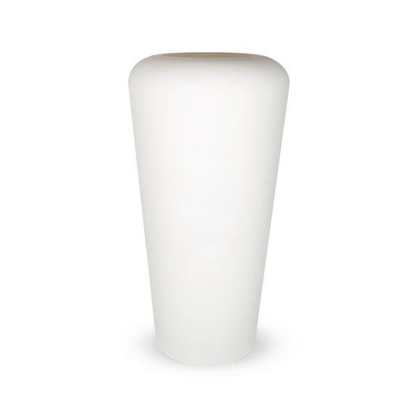 PLASTECNIC - Bloempot Vaso Mymou Alto, H105 cm, wit - kunststofbloempot.nl