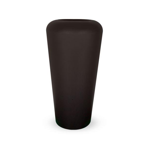 PLASTECNIC - Bloempot Vaso Mymou Alto, H105 cm, zwart - kunststofbloempot.nl
