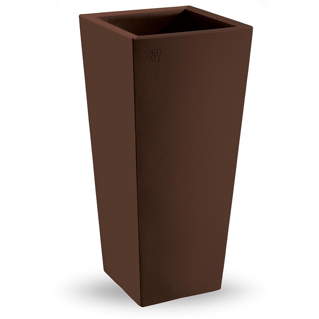Bloempot Genesis vierkant H100 cm bruin - VECA