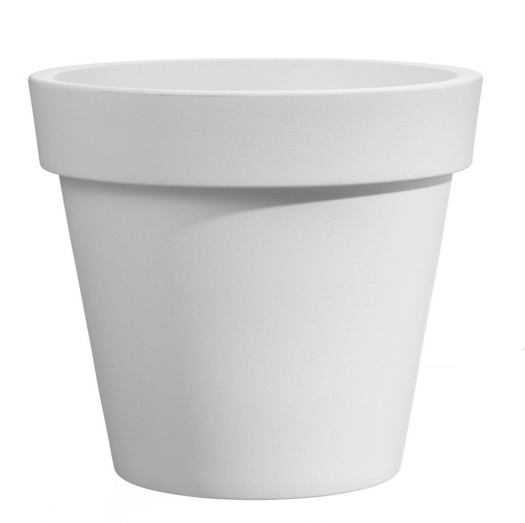 Bloempot Easy, rond Ø55 cm, H49 cm, wit - VECA