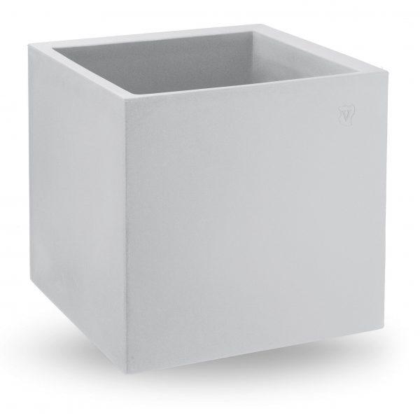 VECA - Bloempot Cosmos, vierkant, 45 cm, wit - kunststofbloempot.nl