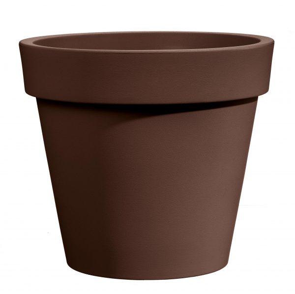 Bloempot Easy, rond Ø80 cm, H75 cm, bruin - VECA