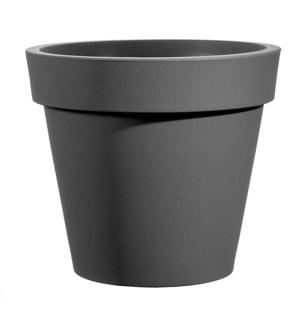Bloempot Easy, rond Ø100 cm, H88 cm, antraciet - VECA