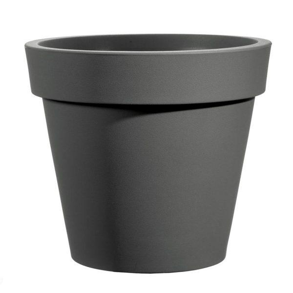 Bloempot Easy, rond Ø80 cm, H75 cm, antraciet - VECA