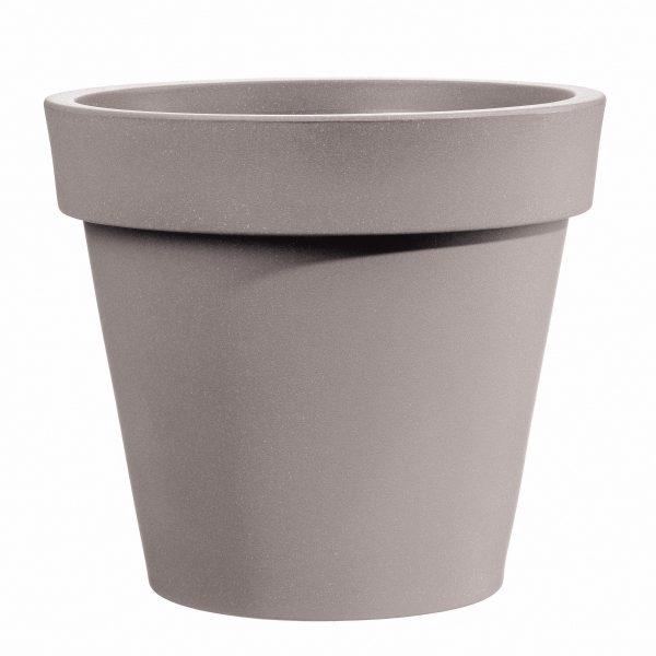 Bloempot Easy, rond Ø130 cm, H120 cm, taupe - VECA