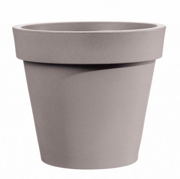 Bloempot Easy, rond Ø80 cm, H75 cm, taupe - VECA