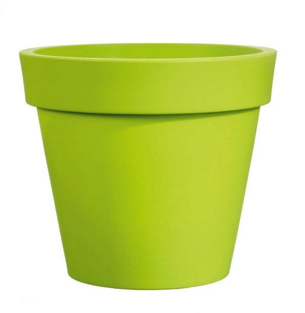 Bloempot Easy, rond Ø80 cm, H75 cm, groen - VECA
