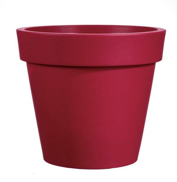 Bloempot Easy, rond Ø80 cm, H75 cm, rood - VECA
